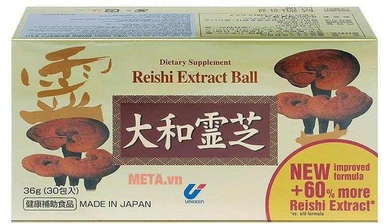 Reshi Extract Ball ổn định huyết áp, bổ gan, tăng hệ miễn dịch