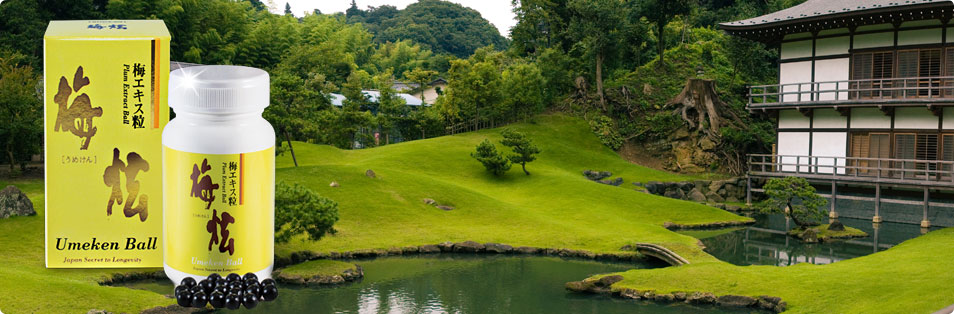 Umeken ball - Giải độc gan, hỗ trợ tiêu hóa. Bí quyết sống lâu của người Nhật