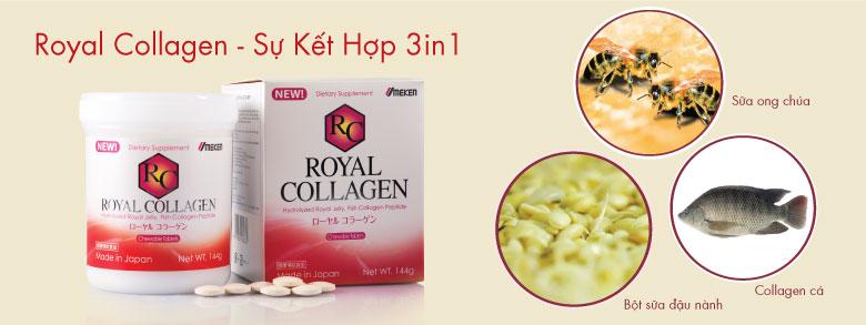 Royal Collagen - Sản phẩm làm đẹp da kết hợp 3 trong 1