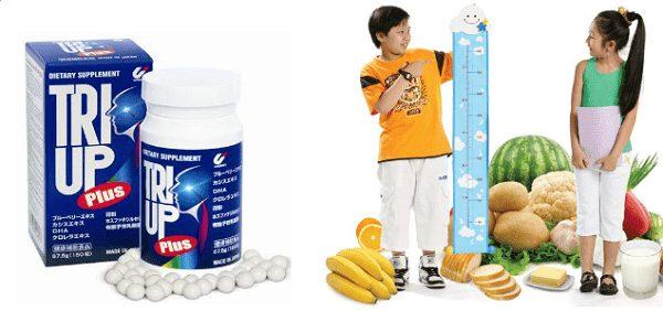 Sự tăng trưởng chiều cao nhờ các dưỡng chất từ Triup Plus