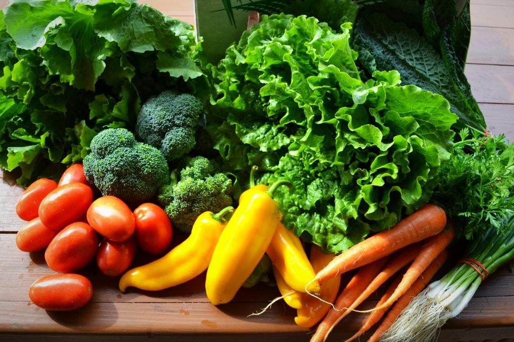 Rau củ quả là thực phẩm tự nhiên giúp cải thiện suy nhược cơ thể.